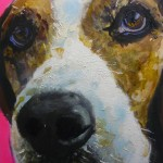 Beagle Bine 60x50, Acryl und Lack 2014 (2)h