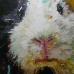 Meerschweinchen Paul 80x65 Acryl und Lack 2014 (2)