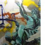 Vater Rhein, 120 x120 cm Acryl und Lack