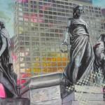 skulpturen mit kranz und stab 120 x 150